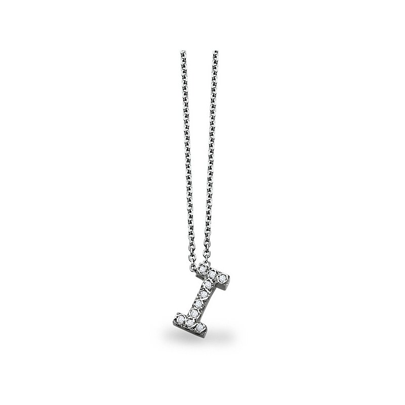 e3b5c1b67fc ... Necklace in 14k White Gold with 10 Diamonds weighing .10ct tw. Stock    N2300-I