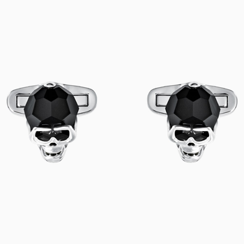 Taddeo Cufflinks, Black, Palladium plated