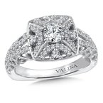 Valina Halo Engagement Ring Mounting in 14K White/Rose Gold (.39 ct. tw.)