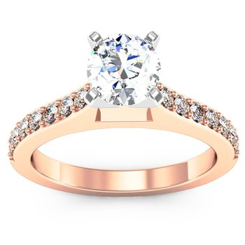 Pave Diamond Engagement Ring