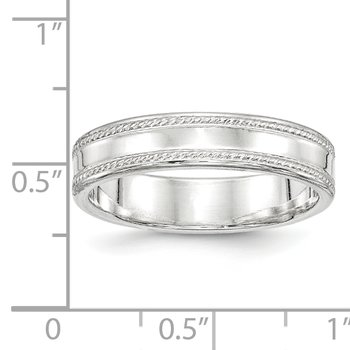 Sterling Silver 5mm Design Edge Band
