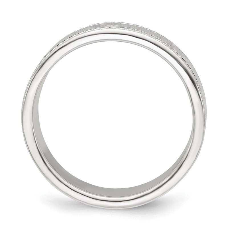 Quality Gold Sterling Silver 5mm Design Edge Band
