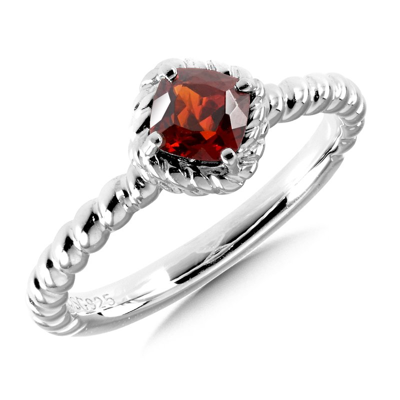 Colore Sg Sterling Silver Garnet Stacking Ring