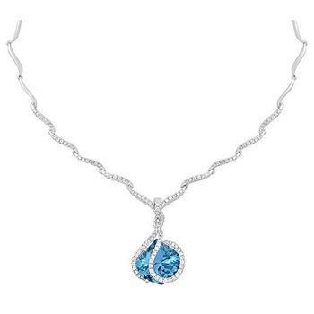 Aqua Blue Spinel Necklace-CN0254WAQ