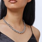 JOHN HARDY Asli Classic Chain Link 10MM Necklace in Silver