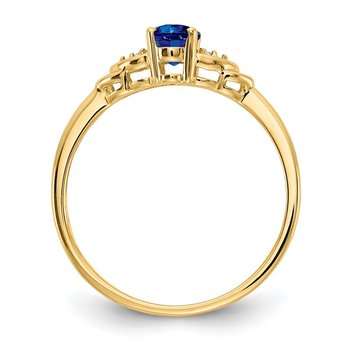 14k Sapphire and Diamond Ring