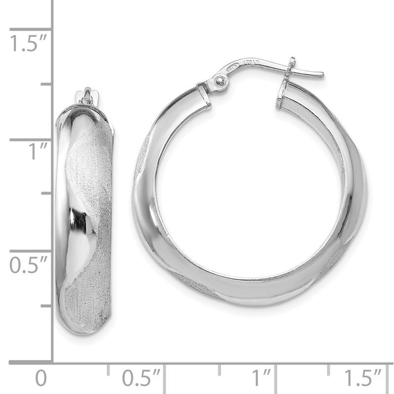 Leslie's Leslie's SS Rhodium-plated Hoop Earrings