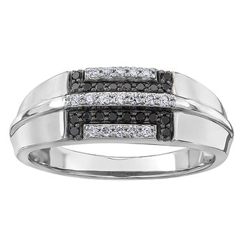 Enhanced Black Diamond Gents Ring
