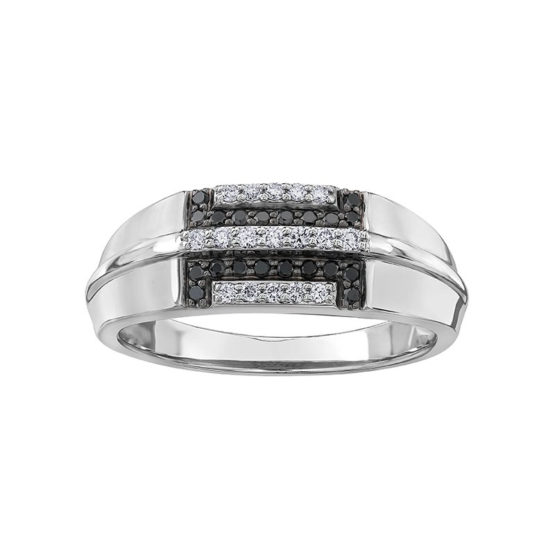 Timeless Beauty Enhanced Black Diamond Gents Ring