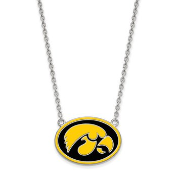 Sterling Silver University of Iowa NCAA Necklace