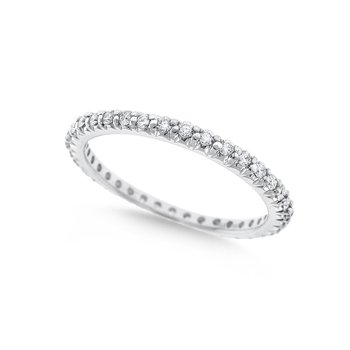 Diamond Stack Ring in 14K White Gold with 36 Diamonds Weighing  .44ct tw