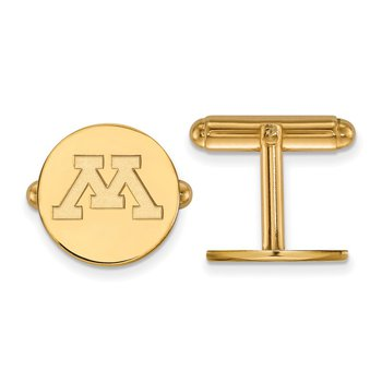 Gold-Plated Sterling Silver University of Minnesota NCAA Cuff Links