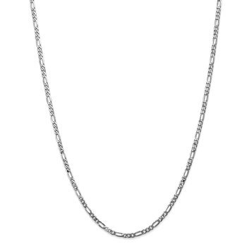 Leslie's 14K White Gold 3mm Flat Figaro Chain