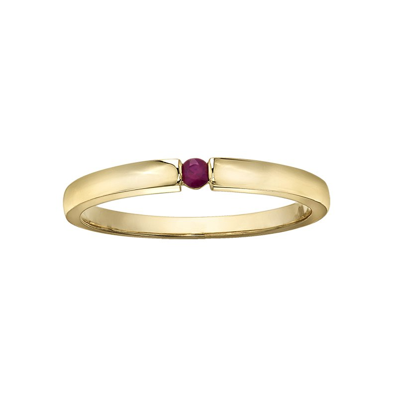 Lasting Treasures Ruby Ladies Ring