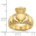 Quality Gold 14k Polished Domed Claddagh Ring