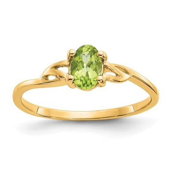 14k Peridot Birthstone Ring
