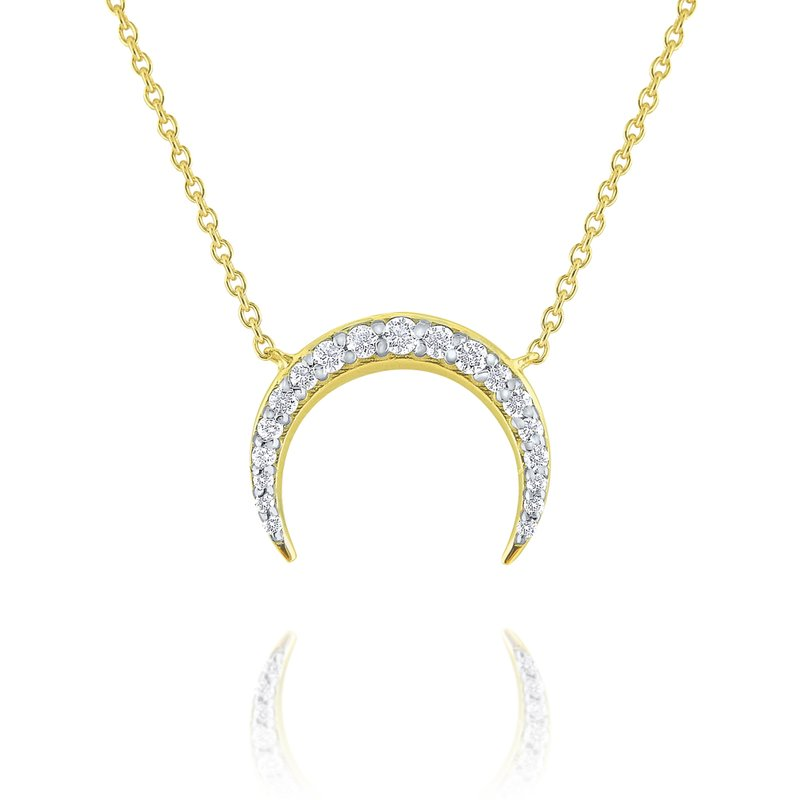KC Designs 14K Gold and Diamond Luna Moon Necklace