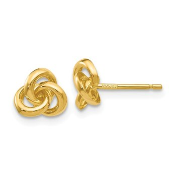 14k Trinity Knot Earrings