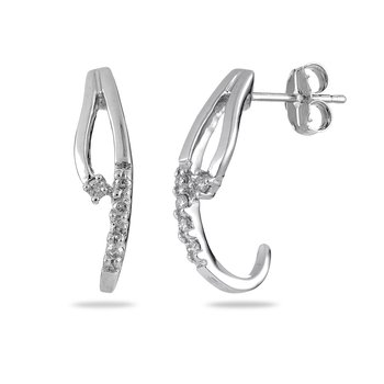 14K WG Diamond Accent Ear-rings