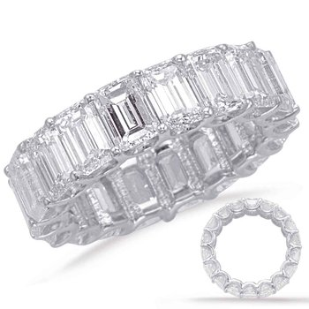 Emerald Cut Eternity Band (4.3mm)