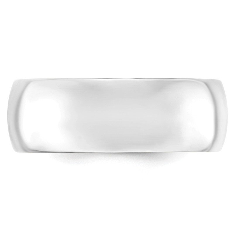Quality Gold 14k White Gold 8mm Comfort-Fit Band