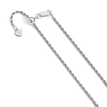 Leslie's Sterling Silver Adjustable 2mm D/C Rope Chain