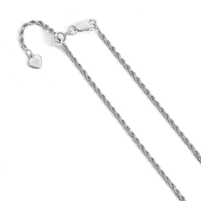 Leslie's Leslie's Sterling Silver Adjustable 2mm D/C Rope Chain