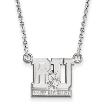 Sterling Silver Boston University NCAA Necklace