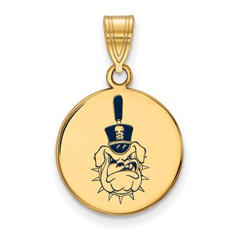 Gold-Plated Sterling Silver The Citadel NCAA Pendant