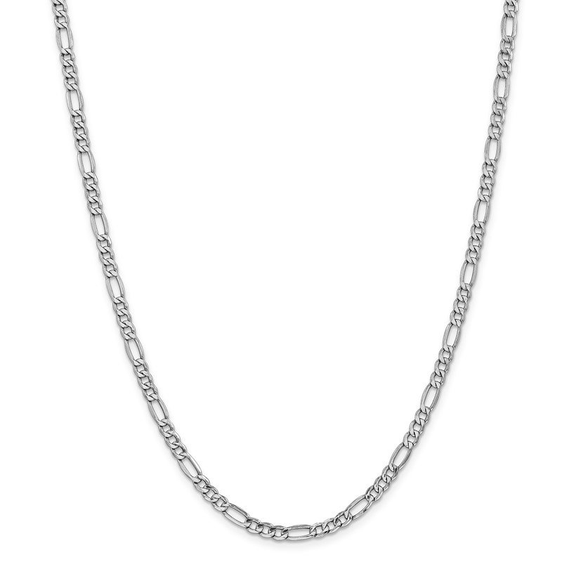 Arizona Diamond Center Collection 14k WG 4.4mm Semi-Solid Figaro Chain