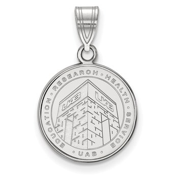 Sterling Silver University of Alabama at Birmingham NCAA Pendant