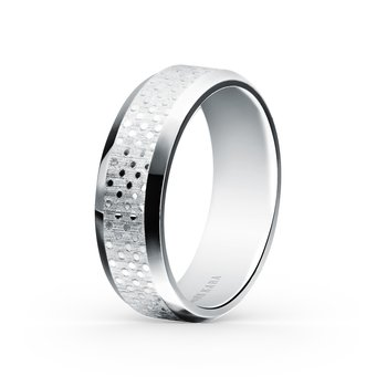 Textured Mens Modern Wedding Band 7mm