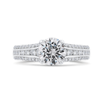 18K White Gold Diamond Engagement Ring (Semi-Mount)