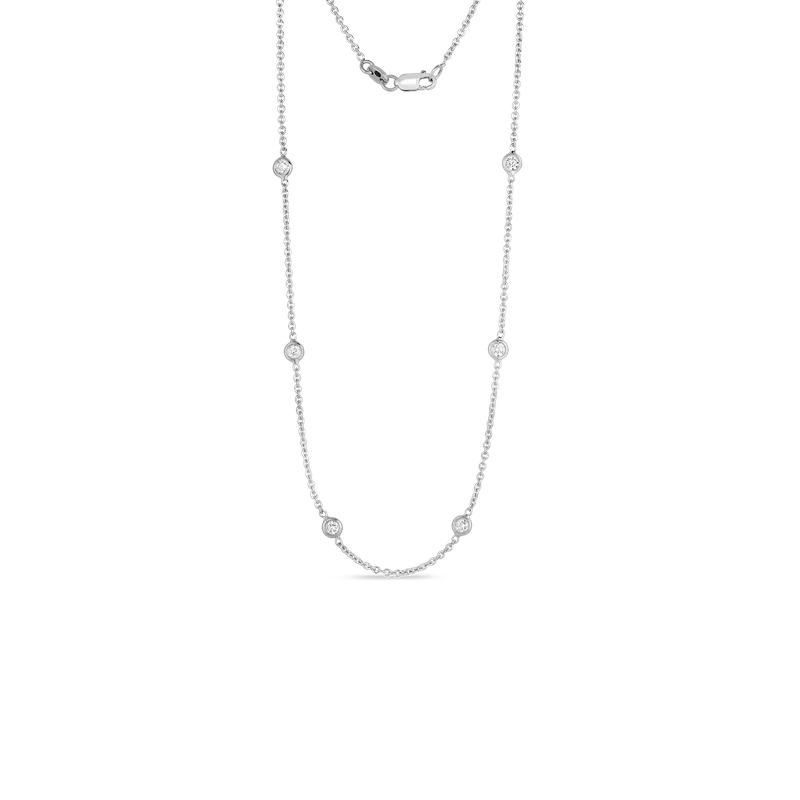 Roberto Coin  #26666 Of 18Kt Gold 10 Station Diamond Necklace