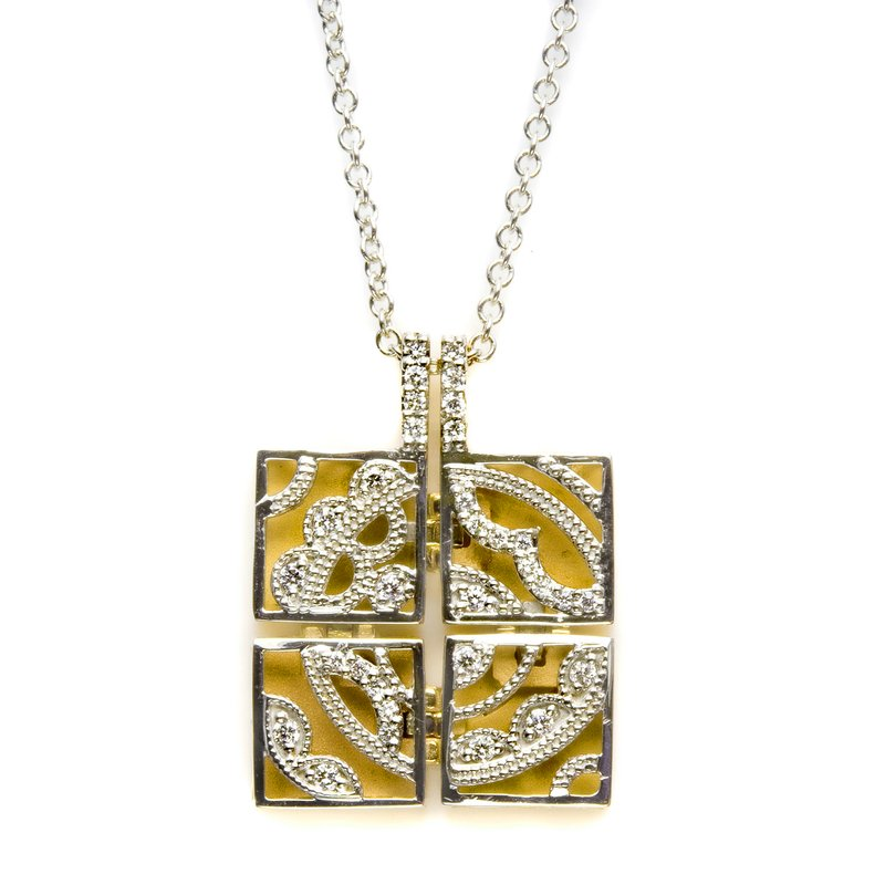Tacori Square Medallion Pendant Necklace