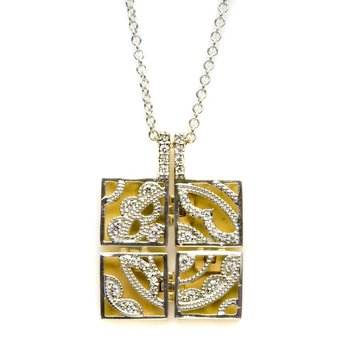Square Medallion Pendant Necklace