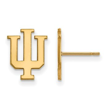 Gold Indiana University NCAA Earrings