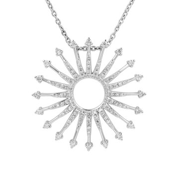 The sun always shines especially in 14K gold and sparkling diamonds T.W 0.65CT.