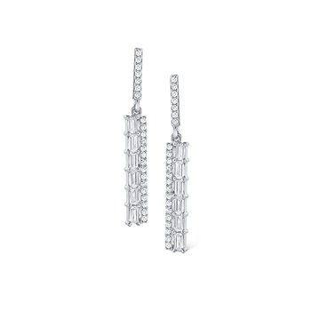 14K Mosaic Diamond Drop Earrings