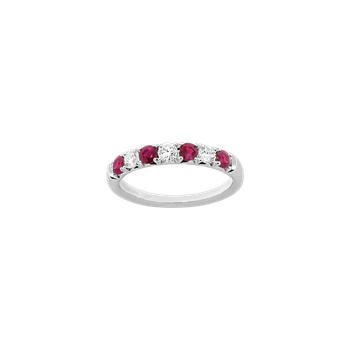 Alternating Diamond & Ruby Band
