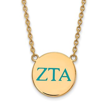 Gold-Plated Sterling Silver Zeta Tau Alpha Greek Life Necklace