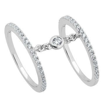 14KW 1/2CTW RIGHT HAND FASHION RING
