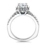 Valina Geometric shape halo .52 ct. tw., 1 ct. Asscher cut center