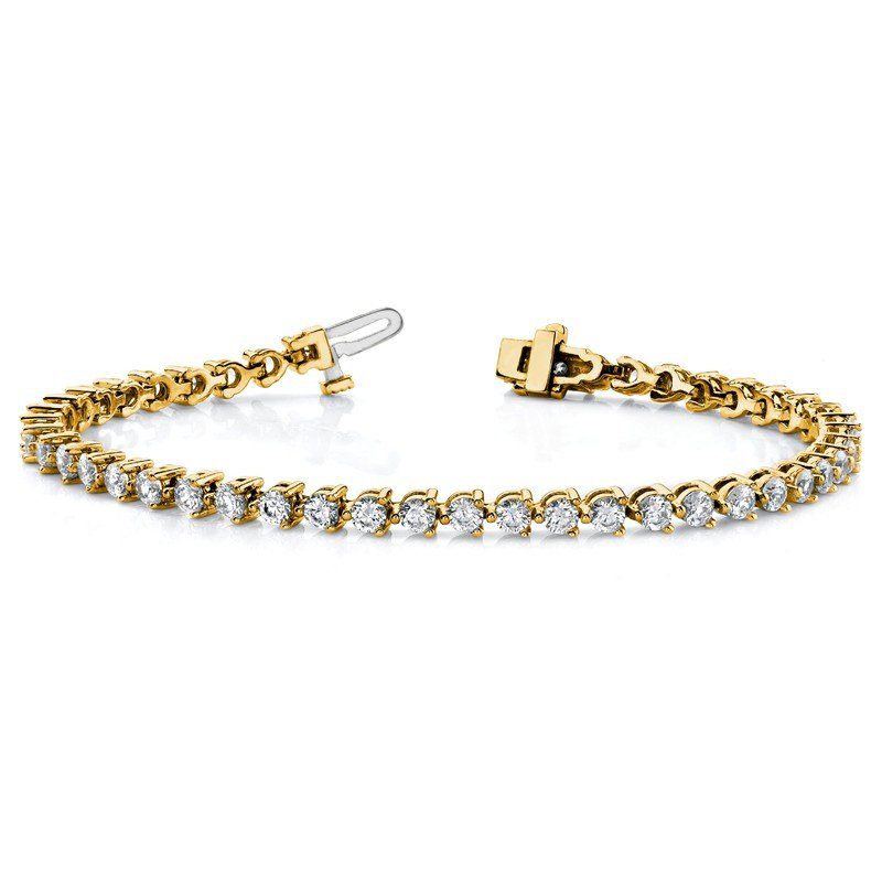 True Origin 14ky True Origin Lab Grown VS/SI D,E,F Diamond Tennis Bracelet