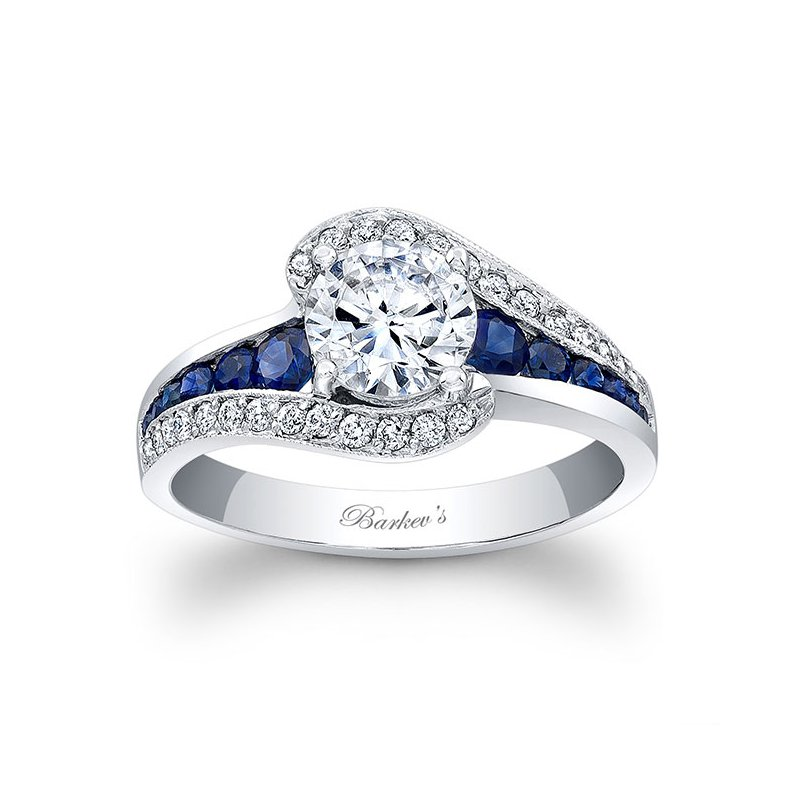 Barkev S Blue Sapphire Engagement Ring Mcguire S Jewelers