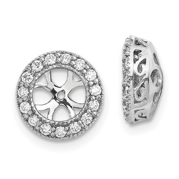14k White Gold A Diamond Earring Jacket