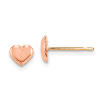 14k Madi K Rose Gold Heart Post Earrings
