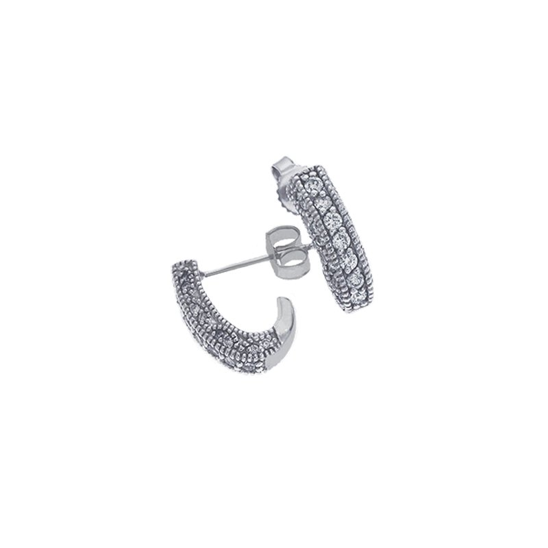 S. Kashi  & Sons White Gold J Earrings