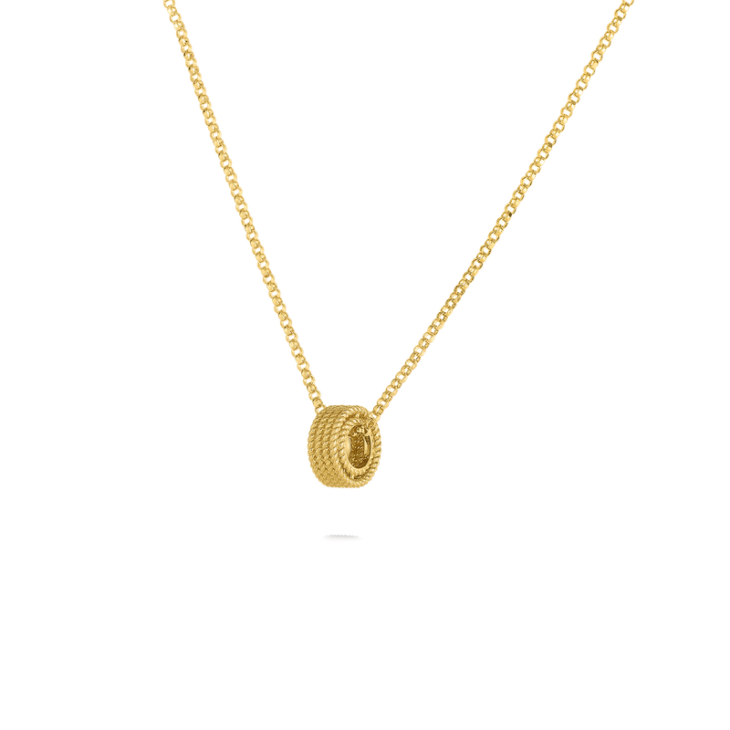 Roberto Coin  #28982 Of 18Kt Gold Barocco Rondel Pendant