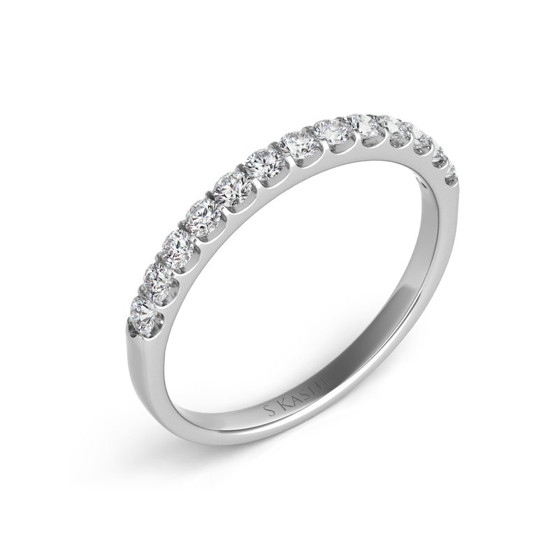 MAZZARESE Bridal Platinum Wedding Band